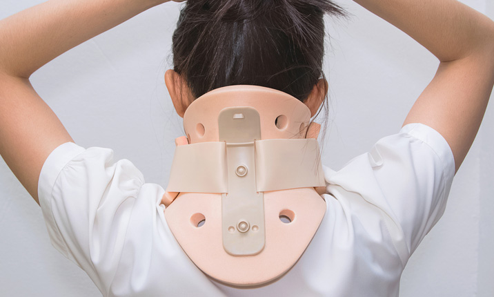 Inside an ambulance - Cervical collar