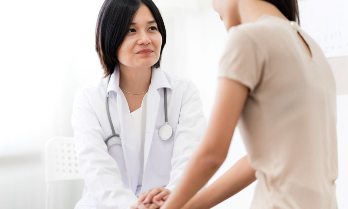 Doctor treatment urinary tract infection